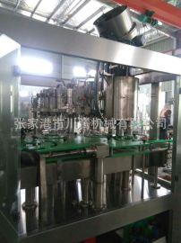 玻璃瓶啤酒灌装机 三合一啤酒灌装生产线