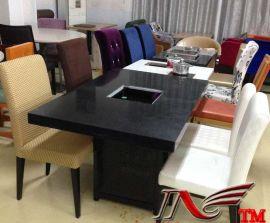 石英石电磁炉火锅桌