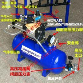 压缩空气高压大流量气体增压泵 车间气源不足增压器