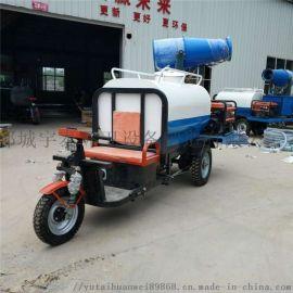 电动三轮洒水车 工地雾炮喷洒降尘车 园林绿化洒水车