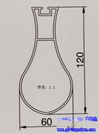 椭圆形铝圆管 铝合金圆管规格 海南铝圆管吊顶