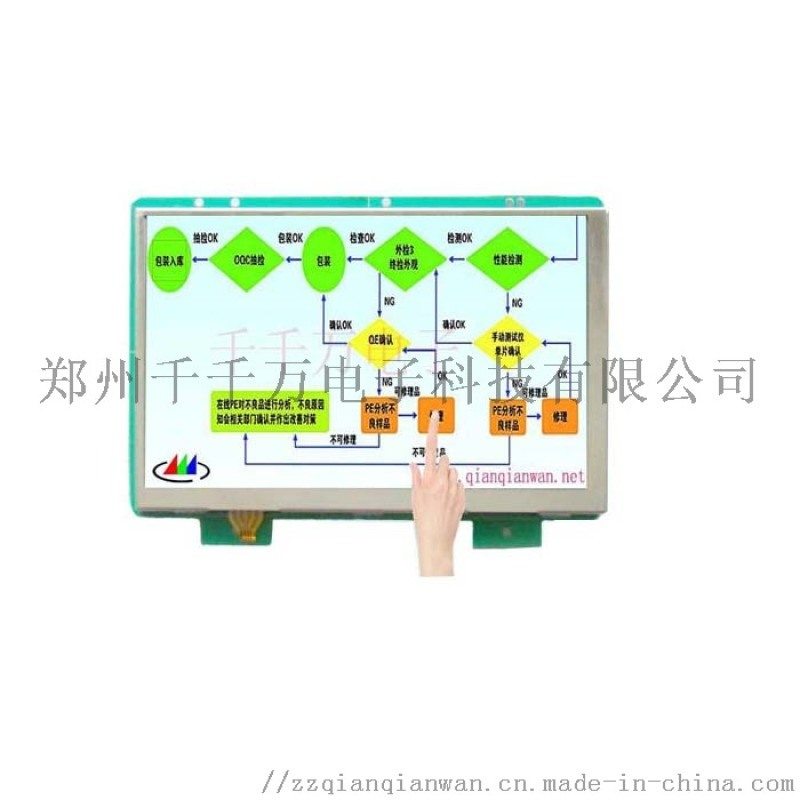 郑州彩色液晶显示屏 7寸触摸工业液晶显示器
