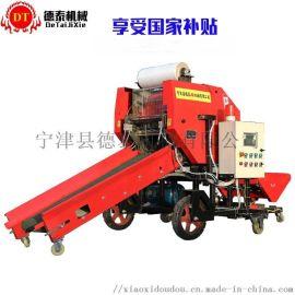 升级款青贮圆捆包膜机加厚壁板青储饲草发酵打包机