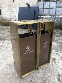 小区不锈钢户外垃圾桶厂家定做 造型不锈钢垃圾筒