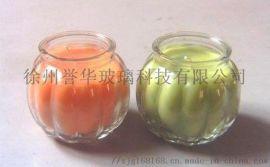定做玻璃烛台,玻璃瓶,西瓜玻璃烛台,出口玻璃烛台