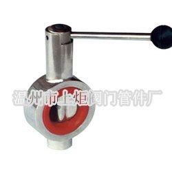 卫生级不锈钢D71X-10P软密封手动对夹式蝶阀