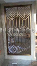 铜板浮雕隔断 家居装饰雕花镂空花格屏风