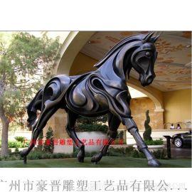 广州豪晋 玻璃钢仿真马雕塑工艺品厂家直销
