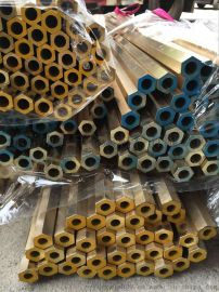 库存现货H59铜管 对边六角黄铜管 电子专用