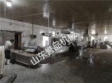 变频调速连续蒸线鱼片鸡腿高低温蒸制卤煮成套设备厂家