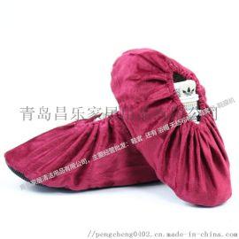 一踏鹏程绒布鞋套家用布加厚防滑耐磨可反复洗 10双