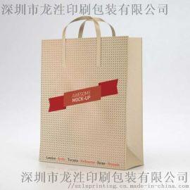 手提袋定制纸质手提袋印刷白卡纸服装批发纸袋定做