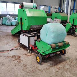 青贮玉米秸秆打捆机,全自动青贮打捆包膜机