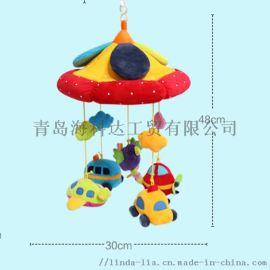 安抚毛绒汽床铃音乐旋转益智玩具动物汽车飞机床铃