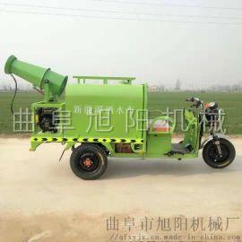 电动三轮洒水车环保降尘雾炮喷洒车高射炮