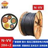 金环宇电缆 国标 三相五线耐火电缆 N-VV 3X4+2X2.5平方电力电缆