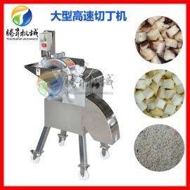 台湾高速菠萝切丁机 304不锈钢根茎类快速切丁机器