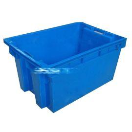 供应 2#错位箱525*398*310塑料物流箱 塑胶周转箱 零部件收纳箱