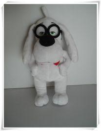 天才眼镜狗,毛绒公仔玩具