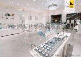 廣州融潤廠家定做商場高端不鏽鋼拉絲圓形珠寶展櫃設計