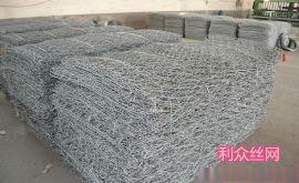 河道护岸护堤铅丝石笼 生态治理铅丝石笼 pvc铅丝笼网箱