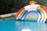 水上乐园充气水滑梯夏季清凉解暑利器龙头大滑梯彩虹滑梯生产厂家