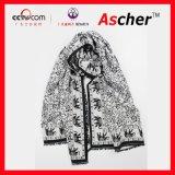 大象雙面超大仿羊絨拉絨保暖披肩,秋冬季女式圍巾