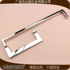 乐朗五金厂家生产供应不锈钢玻璃门拉手 浴室玻璃门大拉手 淋浴房门扶手**实用