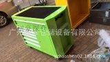 豪深7抽屜可移動工具車臺面帶防靜電膠皮操作檯側面加掛板的工具車