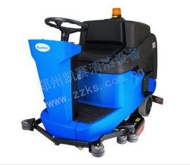 驾驶式洗地车全自动刷盘洗地机工厂用电动刷地车电瓶式洗地吸干机