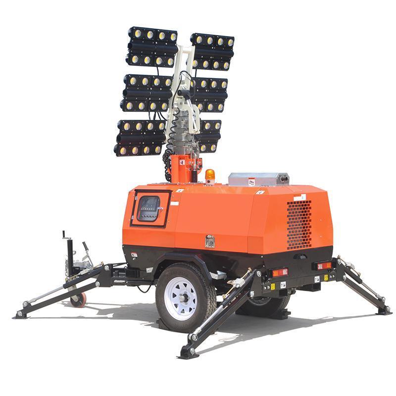 路得威移動工程照明車-CE認證-安全耐用,適合各種露天照明
