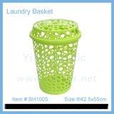 热销外贸带盖塑料洗衣篮