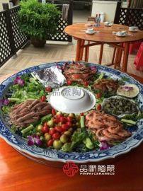厂家定做特大饭店装菜用的大盘子