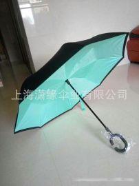 批發定制汽車反向傘 新款反向傘 收攏後也不會弄溼衣服的雨傘