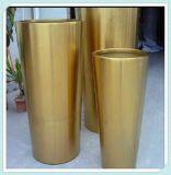 厂家供应园林不锈钢组合花盆不锈钢异形花盆定制加工镜面圆桶花盆