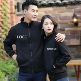 冬季加绒男女中学生高中青少年情侣装卫衣外套运动服装订制logo