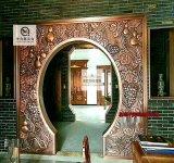 佛山定製 新中式酒店鏡面304不鏽鋼花格屏風