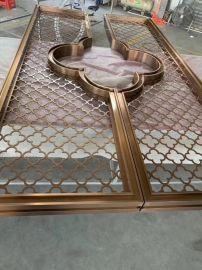 拉丝钛金304不锈钢屏风佛山工厂定制酒店装饰屏风不锈钢客厅屏风
