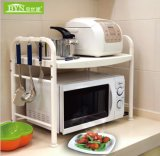 廠家批發廚房置物架微波爐架雙層儲物架 廚房收納架子