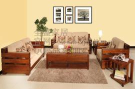 全盛精品**热销实木沙发组合简约转角客厅中小户型客厅家具系类