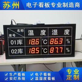 仓库机房温湿度电子看板温度湿度LED数码管显示屏