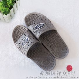 夏季男士特价防滑耐磨福字交叉带凉拖鞋