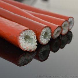 耐高温套管 高温隔热管 电缆电线防火阻燃保护管 玻璃纤维管Φ130