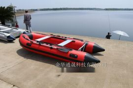 厂家直销 水上乐园观光用便携式充气船 铝合金底板冲锋舟 可坐2人以上