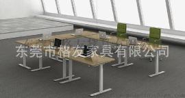 **升降桌 双人连体升降桌 培训升降桌 办公升降桌厂家