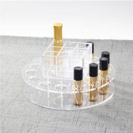 玻璃透明口红收纳盒亚克力化妆品收纳盒口红收纳架唇膏收纳整理盒