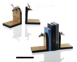 欧式创意书房摆件书挡书立桌面小书架样板间饰品简约现代家居饰品