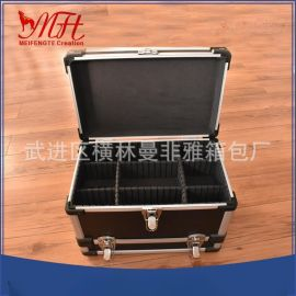 廠家直供便攜式加強型鋁合金工具圓角中圓管密碼鎖儀器箱質量保障