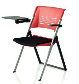 K02伞兵椅 加厚折叠椅 塑料折叠培训椅 办公培训椅厂家