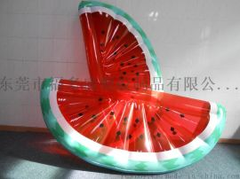 厂家福多盛订做各类PVC充气浮排 西瓜浮排浮垫 夏日休闲水上浮床玩具